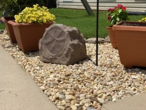 Rock looking Speaker for surround sound system