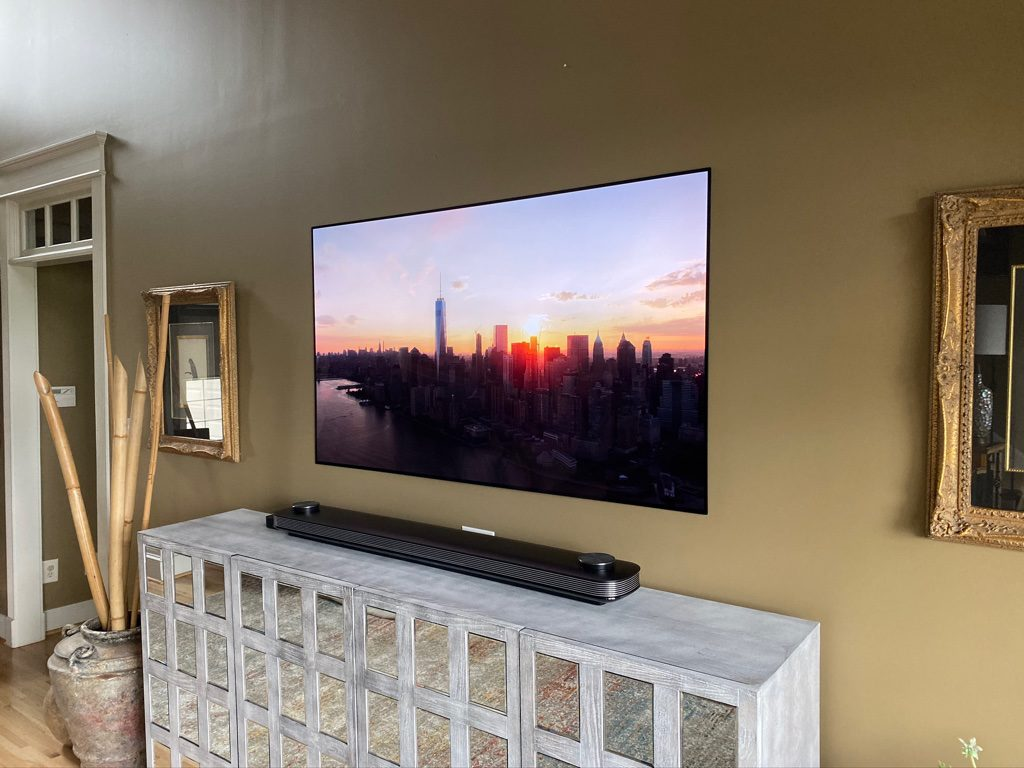 TV installation and surround sound system