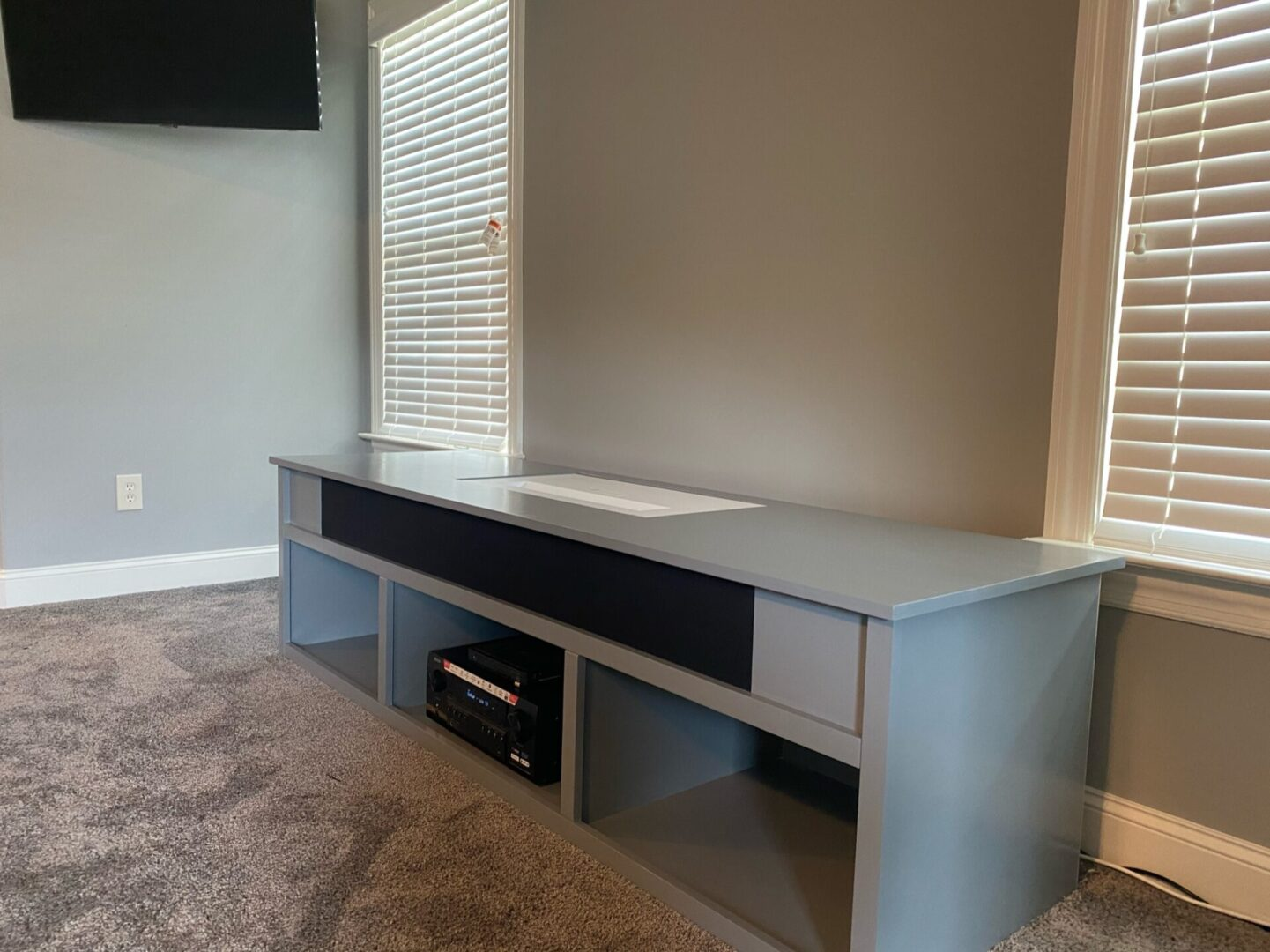 Custom Projector Cabinet with TV installation in Birmingham AL